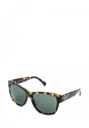 Очки солнцезащитные Ralph Lauren. Цвет: хаки