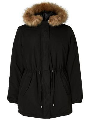 Куртка JUNAROSE. Цвет: черный