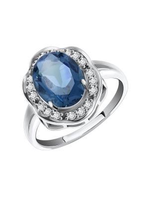 Серебряное кольцо KRASNOE. Цвет: серебристый, серо-голубой