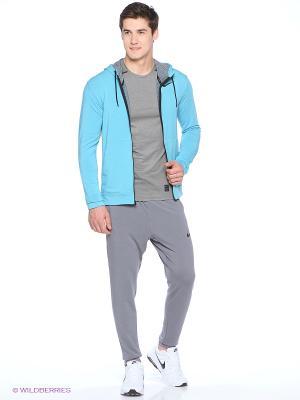 Толстовка DRI-FIT TRAINING FLEECE FZ HDY Nike. Цвет: голубой