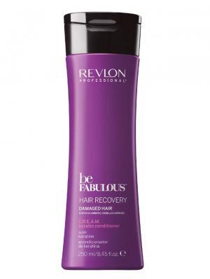 Восстановление волос. C.R.E.A.M. очищающий кондиционер с кератином RP BE FABULOUS 250 мл Revlon Professional. Цвет: фиолетовый