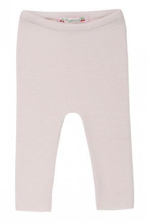Легинсы розового цвета из кашемира Bonpoint. Цвет: розовый