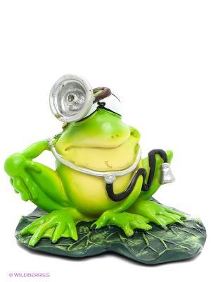 Фигурка-лягушка Доктор Лилу The Comical World of Stratford. Цвет: зеленый, серебристый, желтый, черный