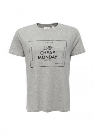 Футболка Cheap Monday. Цвет: серый