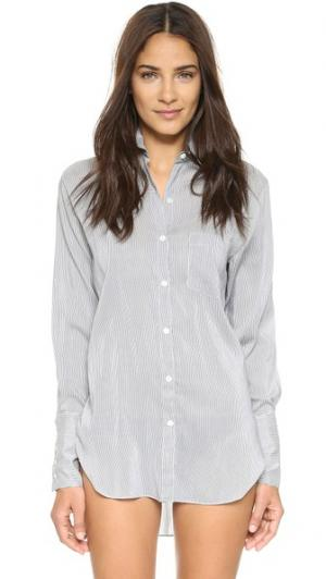 Рубашка в полоску Girlfriend Kiki De Montparnasse. Цвет: белый/синий
