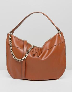 Fiorelli Светло-коричневая большая сумка на плечо с цепочкой. Цвет: рыжий
