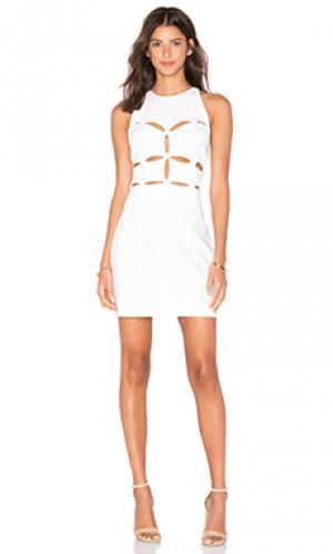 Платье peekaboo OLCAY GULSEN. Цвет: белый