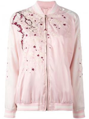 Двухсторонняя куртка-бомбер Nyppo P.A.R.O.S.H.. Цвет: розовый и фиолетовый