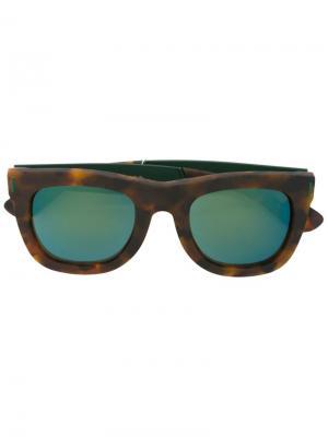 Солнцезащитные очки Ciccio Francis Squadra Retrosuperfuture. Цвет: коричневый