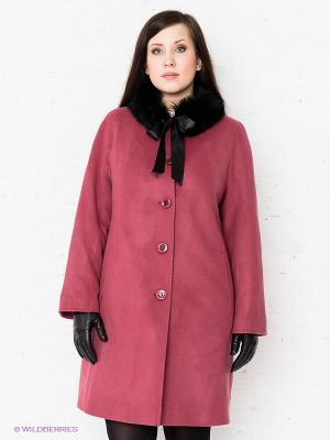 Пальто Klimini. Цвет: розовый