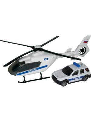 Машина AIR EMERG.TEAM полиция c вертолетом, звук,свет 1:48 AUTOTIME. Цвет: белый