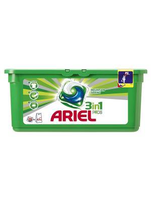 Гель в растворимых капсулах Liquid Capsules Горный родник 30X28.8г Ariel. Цвет: зеленый
