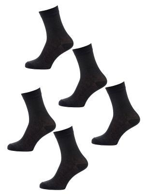 Носки Мужские, комплект 5 пар Malerba. Цвет: черный