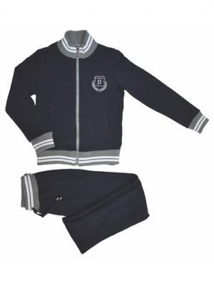 Спортивный костюм BORELLI. Цвет: синий