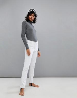 Napapijri Белые горнолыжные брюки. Цвет: белый