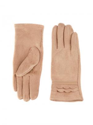 Перчатки Sabellino. Цвет: темно-бежевый