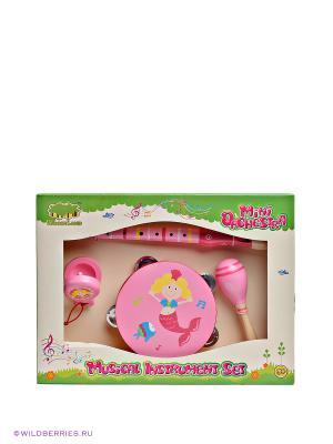Набор музыкальных инструментов Toys Lab. Цвет: розовый (осн.)