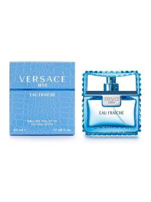 Туалетная вода Eau Fraiche, 50 мл Versace. Цвет: голубой