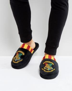 Fizz Creations Слиперы с логотипом школы Хогвартс из вселенной Гарри Поттера. Цвет: черный