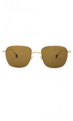 Солнцезащитные очки blanche Ahlem. Цвет: металлический золотой