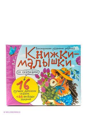 Книжки-малышки со сказками. 16 книжек в коробке АЙРИС-пресс. Цвет: голубой, фиолетовый, красный, зеленый
