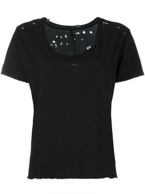 Рваная футболка Unravel Project. Цвет: чёрный