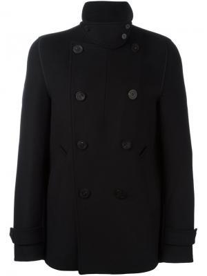 Двубортное пальто Wooyoungmi. Цвет: чёрный