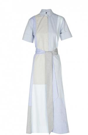 Платье-рубашка макси с поясом Lisa Marie Fernandez. Цвет: серый