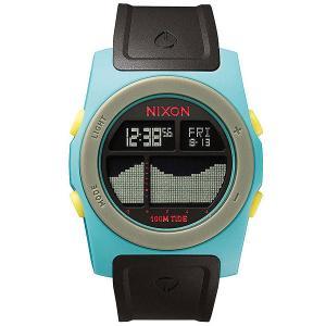 Часы  Rhythm Seafoam/Black/Yellow Nixon. Цвет: голубой,черный