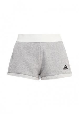 Шорты спортивные adidas Performance. Цвет: серый