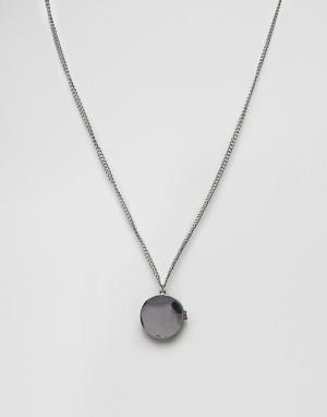 ASOS Серебристое ожерелье с подвеской. Цвет: серебряный