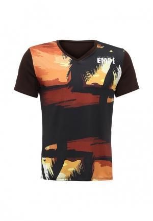 Футболка Emdi. Цвет: коричневый