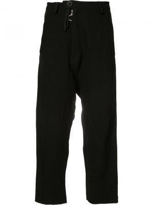 Классические укороченные брюки Barbara Bologna. Цвет: чёрный