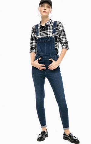 Комбинезон с зауженными брюками Cheap Monday. Цвет: синий