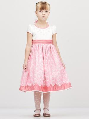 Платье Baby Moses. Цвет: розовый, белый