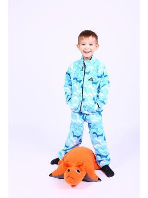 Комплект одежды ЛисФлис. Цвет: голубой