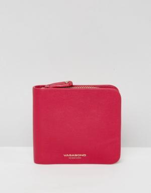 Vagabond Светло-вишневый кожаный кошелек на молнии. Цвет: розовый