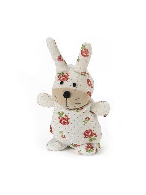 Игрушка-грелка Кролик Флора Warmies. Цвет: белый