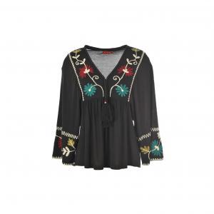 Блузка с вышивкой Implicite RENE DERHY. Цвет: черный