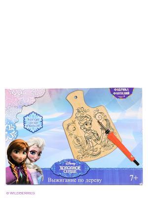 Набор для выжигания с прибором Disney Холодное Сердце Фабрика Фантазий. Цвет: голубой