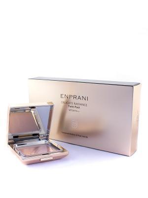 Компактная пудра Деликатное сияние со сменным блоком, натуральный бежевый Enprani. Цвет: бежевый