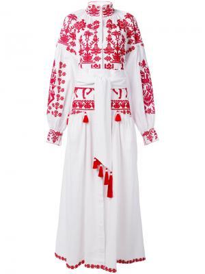 Платье Litopys Yuliya Magdych. Цвет: белый