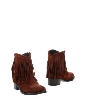 Полусапоги и высокие ботинки SPAZIOMODA. Цвет: какао