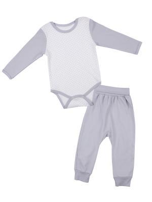 Комплект одежды Апрель. Цвет: серый, молочный