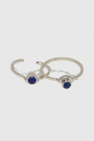 Двойное кольцо Pamela Love. Цвет: серебряный