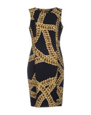 Платье до колена DANIELA DREI. Цвет: темно-синий