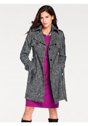 Пальто ASHLEY BROOKE by Heine. Цвет: черный/белый