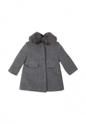 Пальто Tutto Piccolo. Цвет: серый