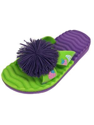 Шлепанцы TINGO. Цвет: зеленый, фиолетовый