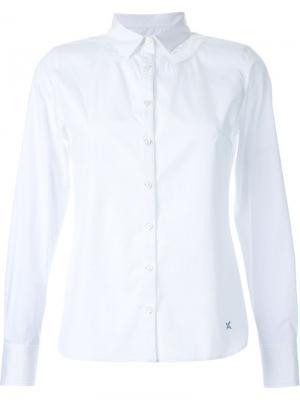 Рубашка с кружевной вставкой Guild Prime. Цвет: белый